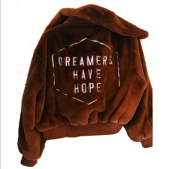 Honorable Citizens Jackets & Blazers - NEW Honorable Citizens brown bomber faux fur coat